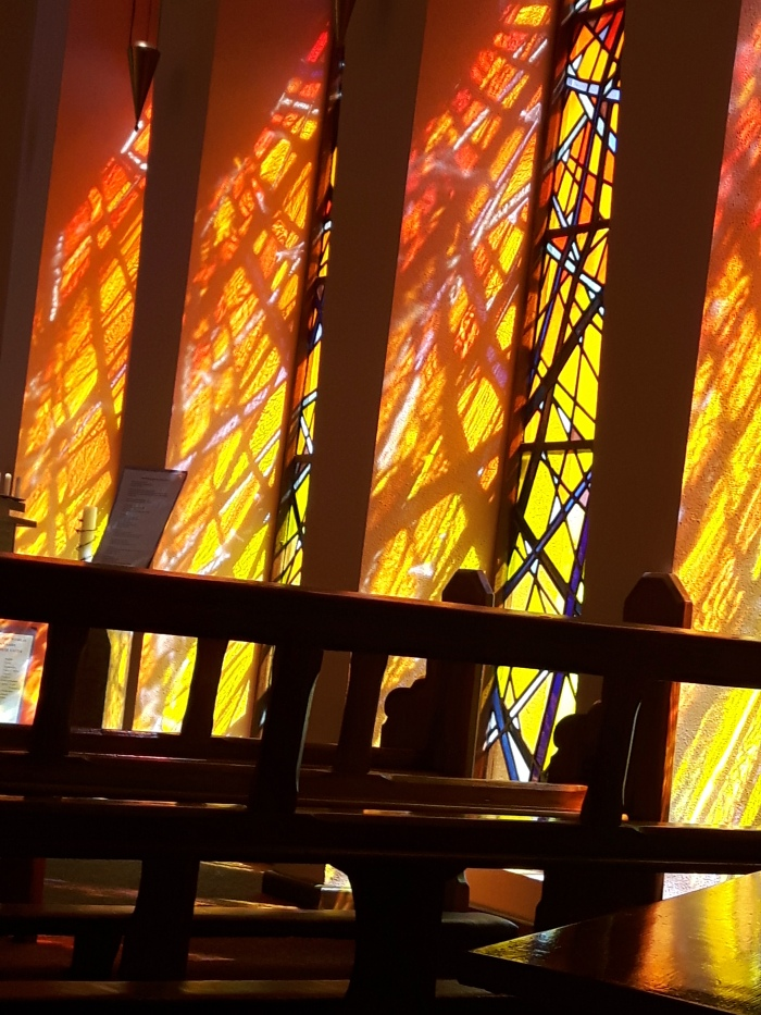 sunlight through stained glass – St Anthony's Chapel, Franciscan Friary, Clonmel