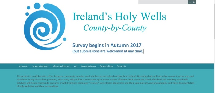 Participants needed for Ireland's Holy Wells  County-by-County   Project