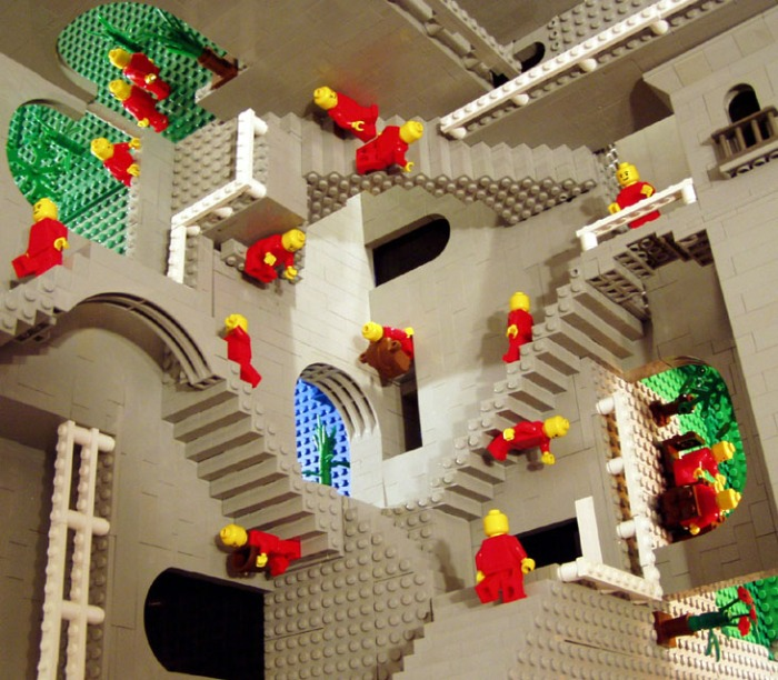 Escher on video and in Lego form