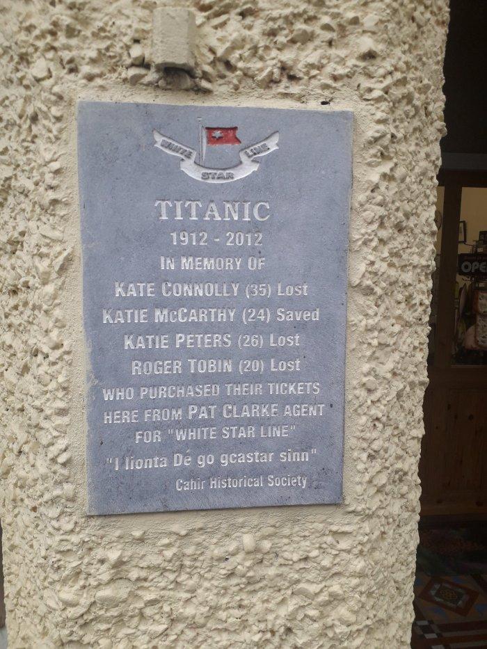 Cahir's Titanic Memorial