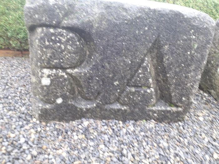 Stone lettering from Nelson's Pillar – exiled from O'Connell Street to Kilkenny